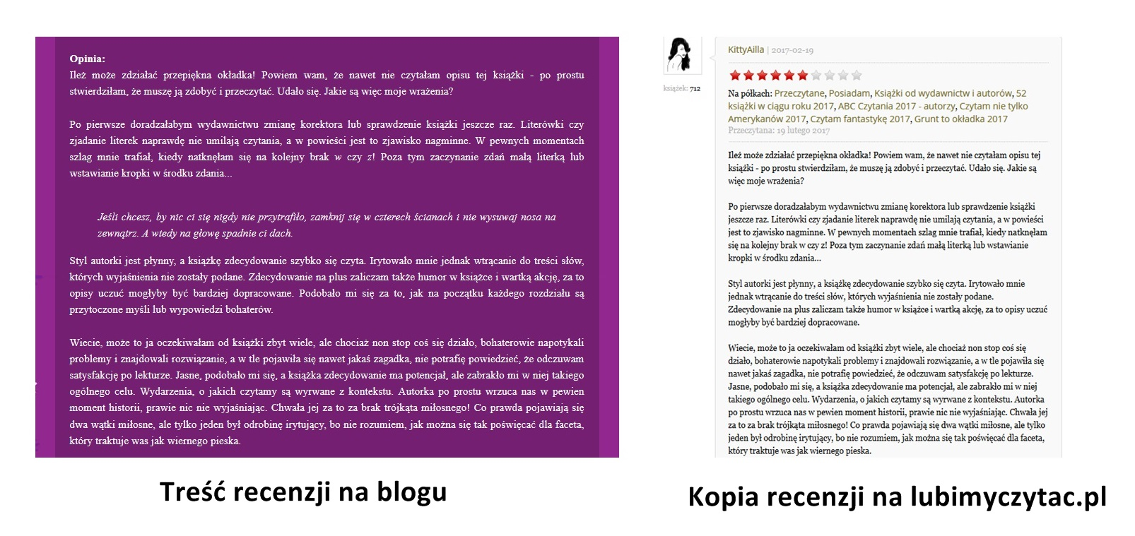 duplikacja treści na blogu