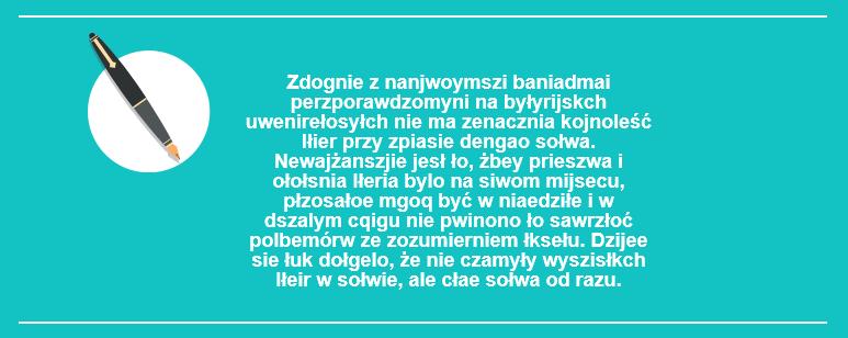 Tekst z poprzestawianymi literami