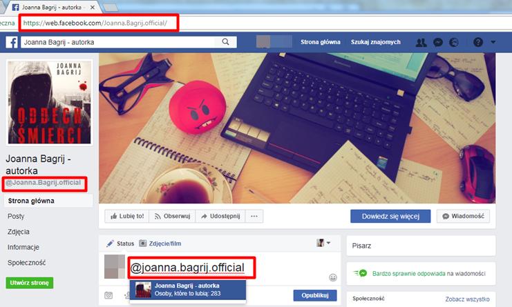 Optymalizacja nazwy użytkownika FB