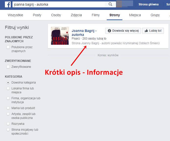 wyszukiwarka Facebook