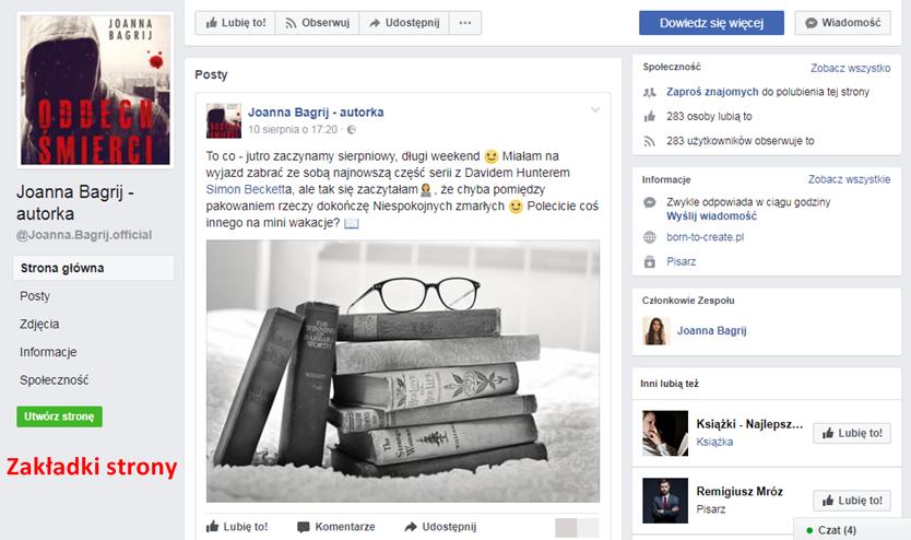Zakładki na Facebooku