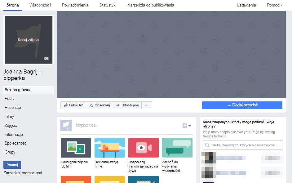 jak stworzyć stronę na facebooku