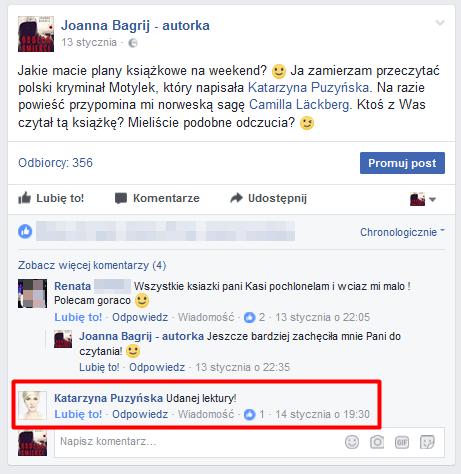 szerowanie stron na FB