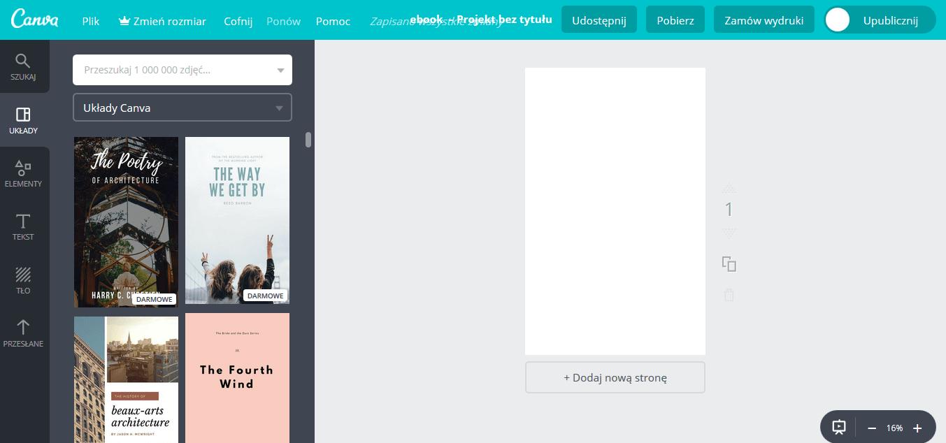 program do projektowania okładek książek
