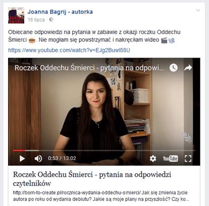 udostępnianie wideo na facebooku